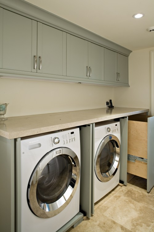 70 functional laundry room design ideas shelterness - Washer dryers for small spaces ideas ...