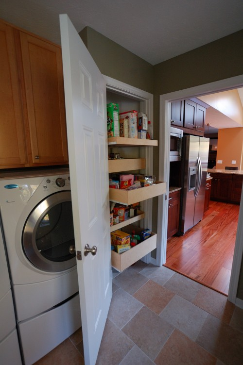 Laundry Room Design Ideas Pull Out Drawers Are Quite Space Saving