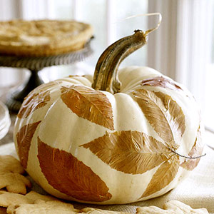 Leaves Pumpkin Decoupage