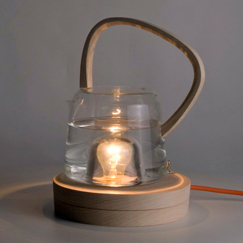Tea Kettle That Uses A Light Bulb To Heat Water