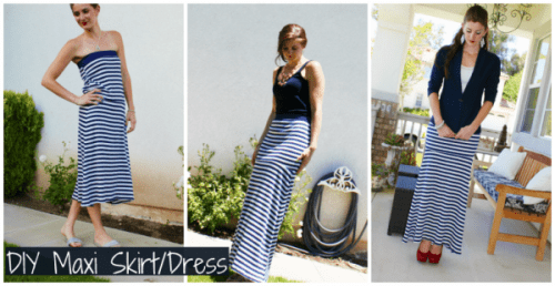 maxi skift nautical dress (via manouvellemode)