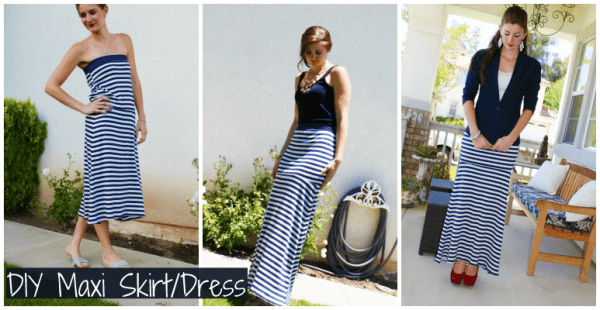 maxi skift nautical dress