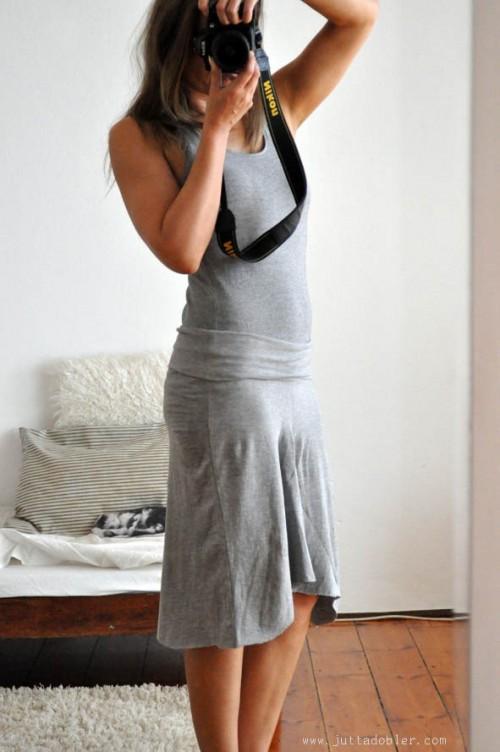 yoga pants repurposed dress (via finecraftguild)