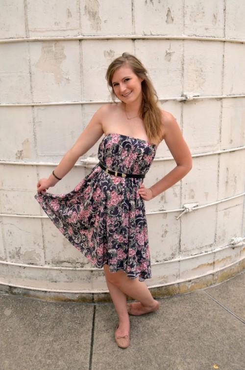 thrifted summer dress (via tulleandtrinkets)