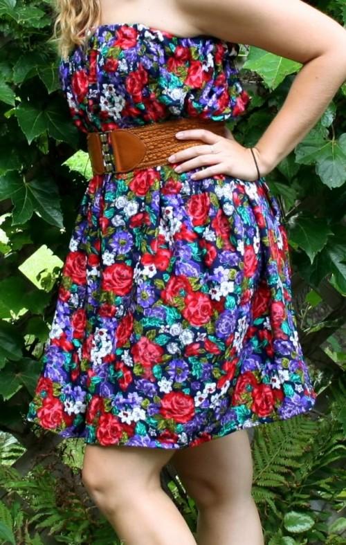 stitched patterned dress