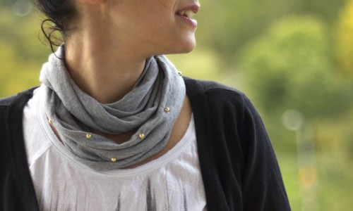 edgy glam scarf
