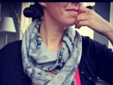 abstract printed scarf