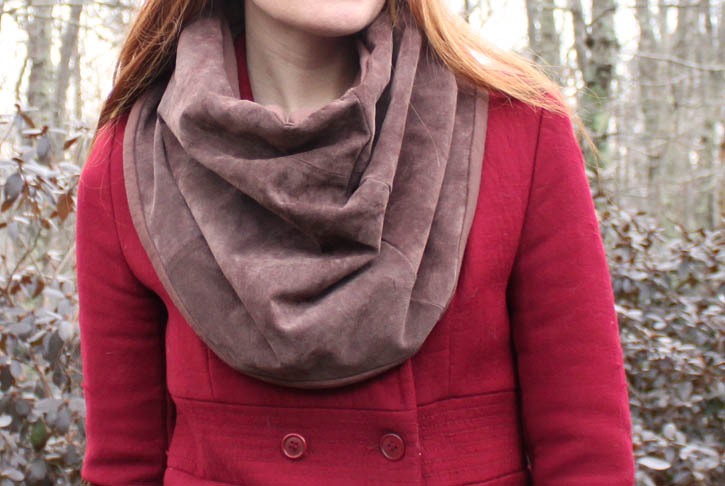 suede infinity scarf