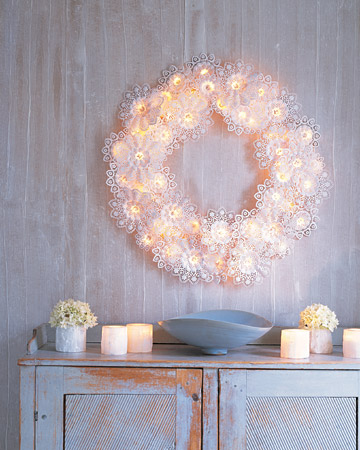 DIY Paper-Doily Wreath (via marthastewart)