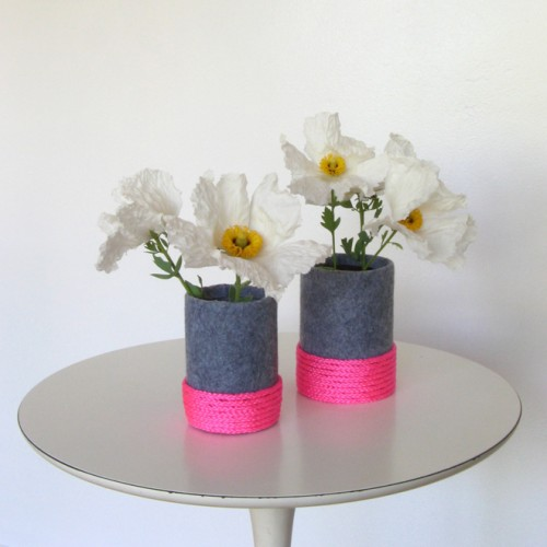 felt neon vase (via shelterness)