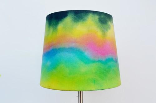 neon tie dyed lampshade (via ilovetocreateblog)