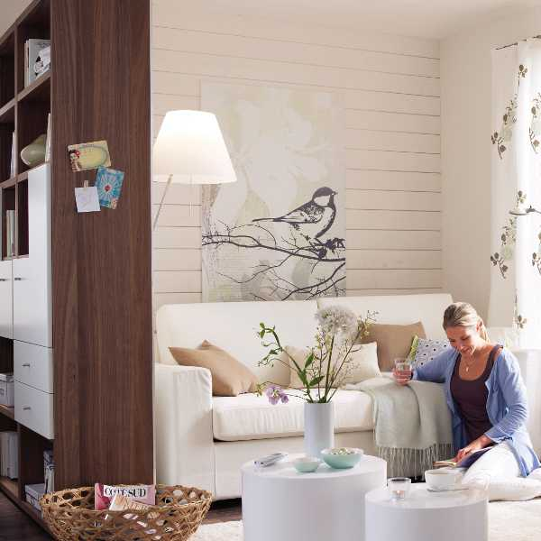 Separated Home Office In A 20 Square Meter Living Room  Shelterness