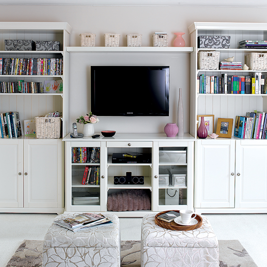 25 Simple Living Room Storage Ideas | Shelterness