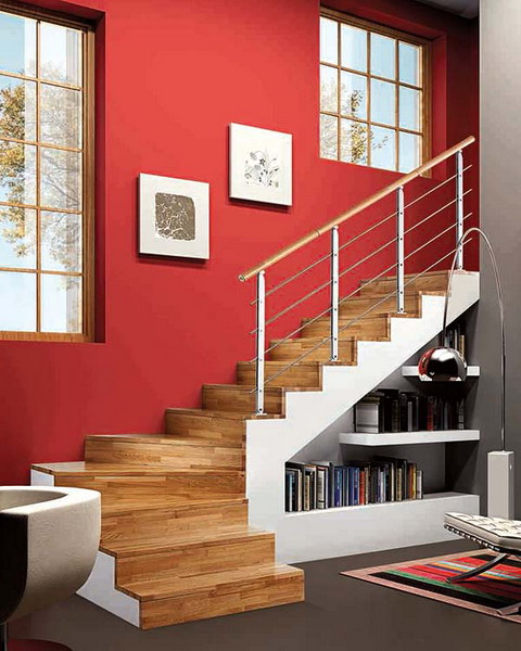 ideas for attic stairs - 15 Living Room Under Stairs Storage Ideas Shelterness