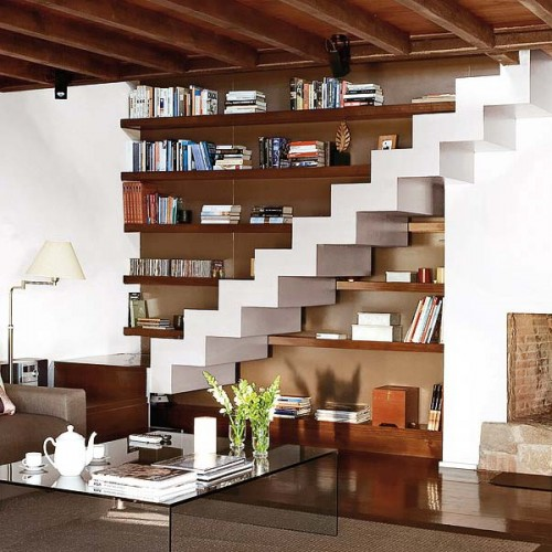 15 Living Room Under Stairs Storage Ideas