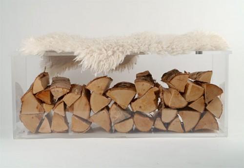 Transparent log holder by KreativPlast
