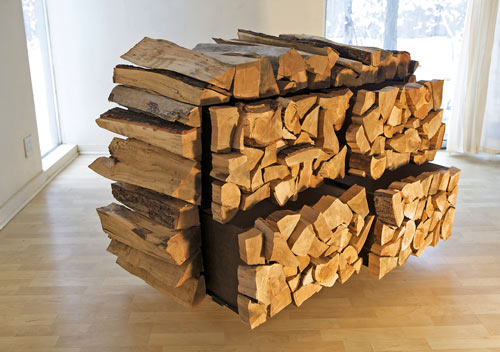 Chest Of Drawers That Resembles A Stack Of Firewood