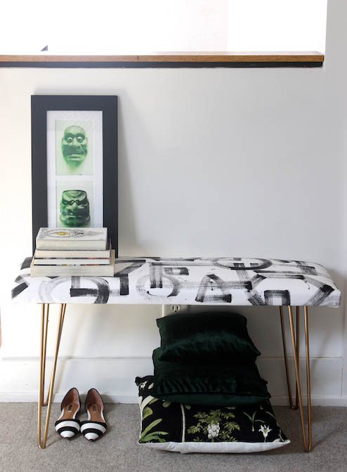 brushstroke bench (via designsponge)