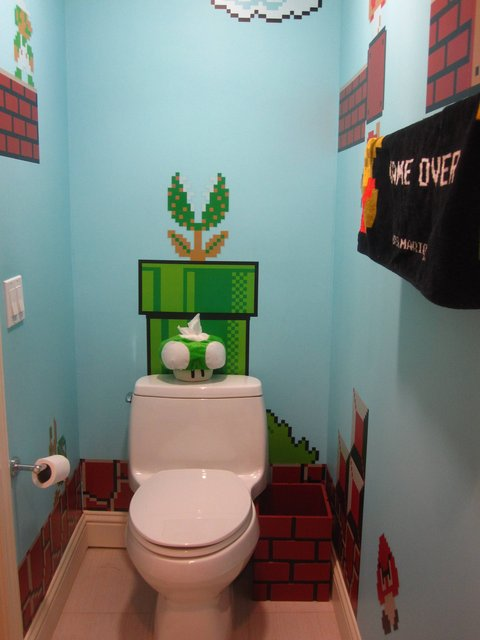 Mario Inspired Bathroom Design