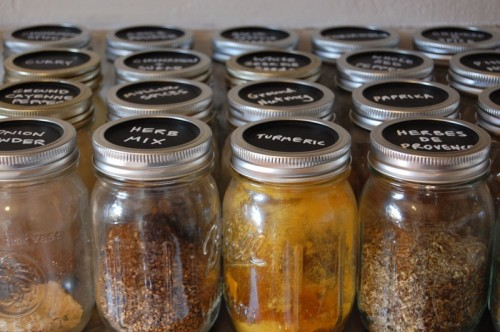 Mason Jars To Store Spices