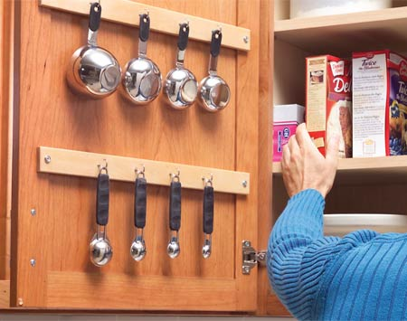 Measuring Cup Hang Up Inside Kitchen Cabinet Door