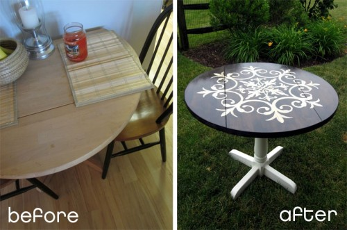 Before & After – Medallion Table Makeover