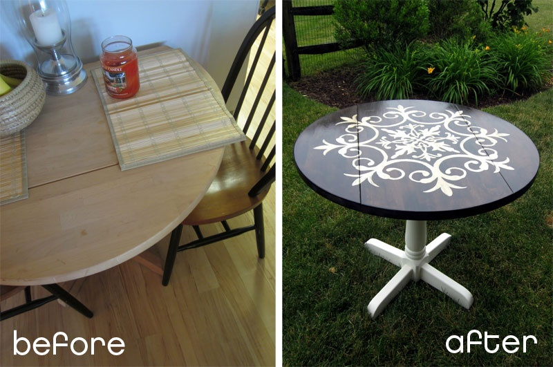 Medalion Table Makeover