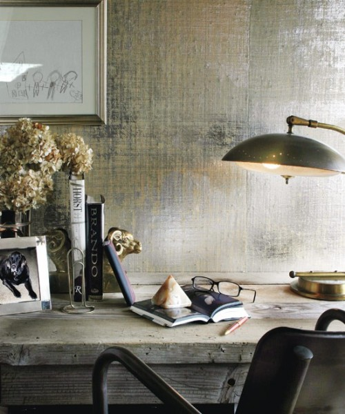 20 Cool Ideas To Make Your Walls Metallic And Shiny