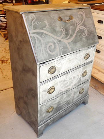 Before & After – Metallic Secretary Desk