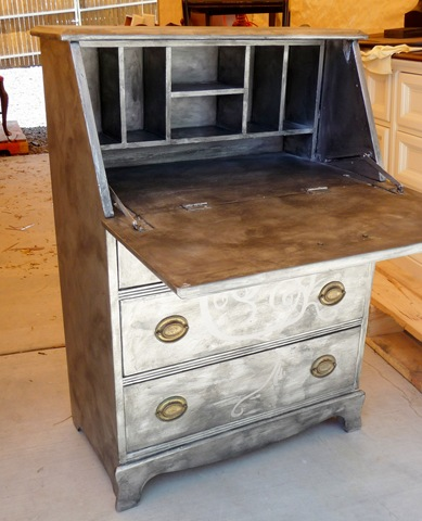 Before & After – Metallic Secretary Desk | Shelterness