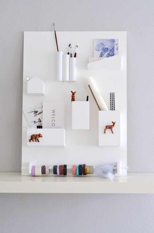 Minimal DIY Wall Organizer For Various Stuff