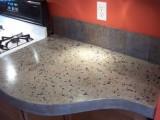 stylish concrete countertop