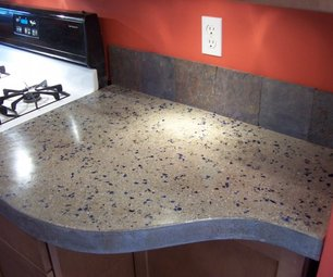 stylish concrete countertop (via instructables)