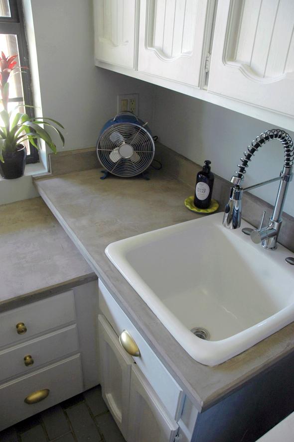 easy diy concrete countertop