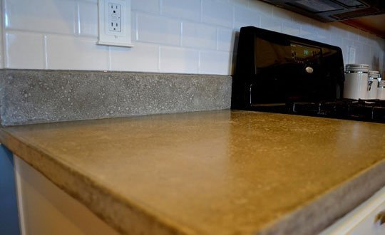 usual concrete countertop