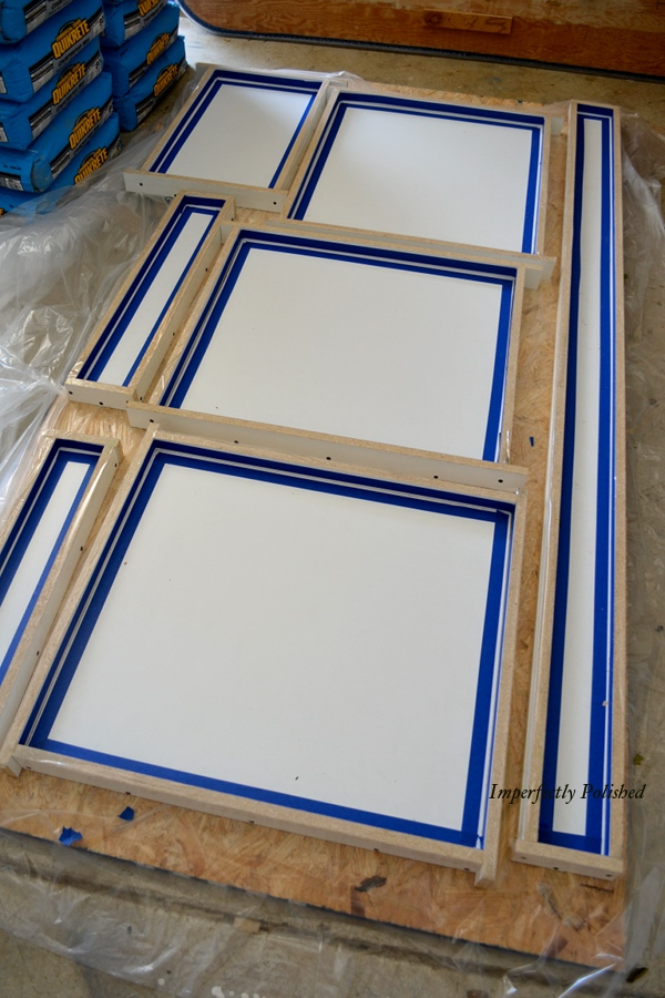 preps and making a countertop
