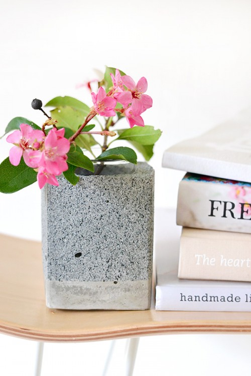 Minimalist DIY Faux Granite Bookends