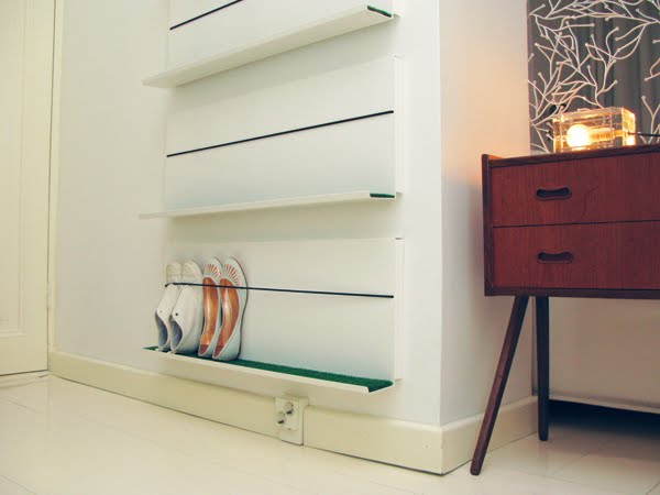 Minimalist Shoe Shelf