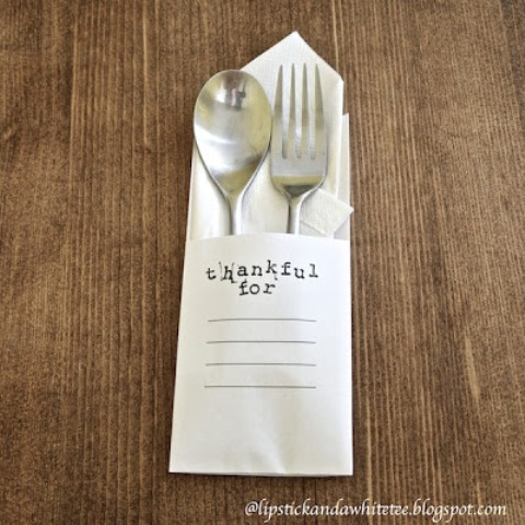 Minimalist Thanksgiving Diy Utensils Envelope