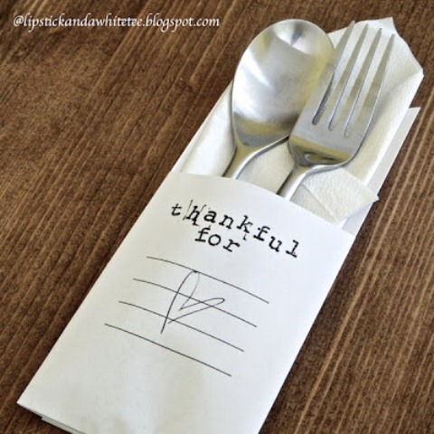 Minimalist Thanksgiving Diy Utensils Envelope