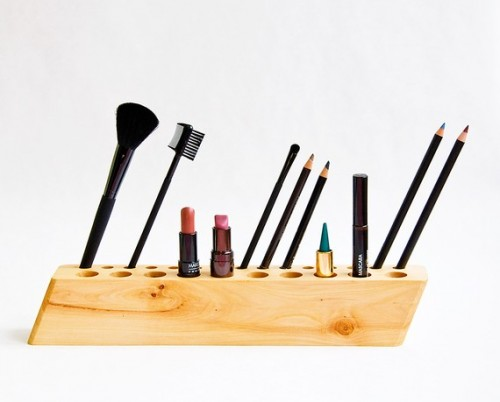 Minimalist Wooden Organizers For Cosmetics or Pencils