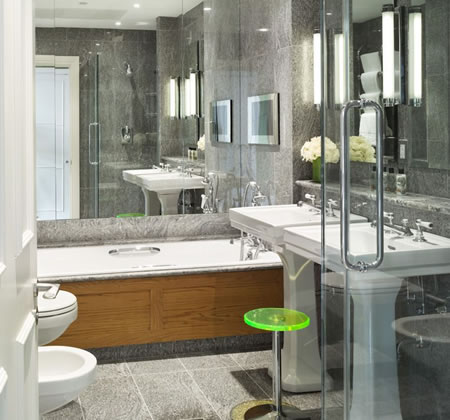 Mirrored Bathroom Storage