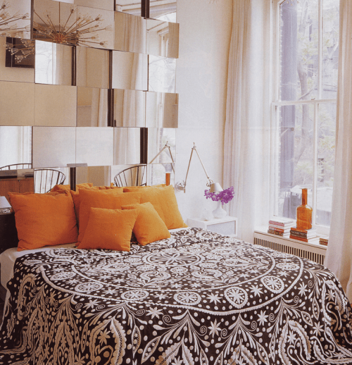 15 cool ideas to use mirrors as headboard shelterness