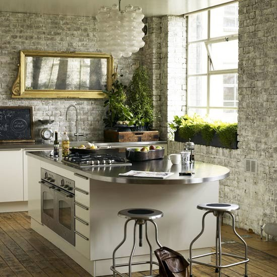 15 Ideas To Hang Mirror On A Kitchen
