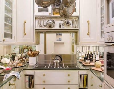 Mirror On A Kitchen