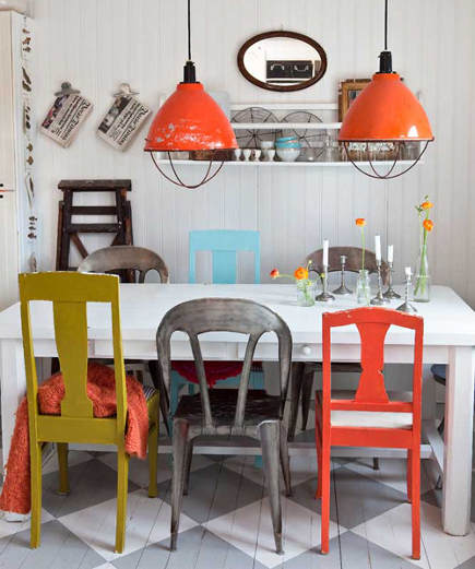 37 ideas to use mixed dining chairs in dining rooms photo 12