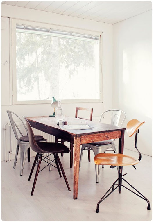 37 ideas to use mixed dining chairs in dining rooms photo 7