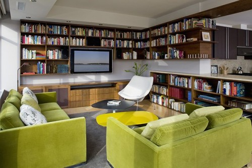7 modern home library designs to inspire shelterness - Library living room ideas ...