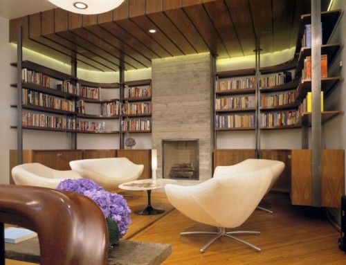 7 modern home library designs to inspire shelterness for Home library designs interior design