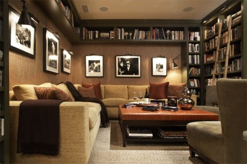 Modern Home Library Design
